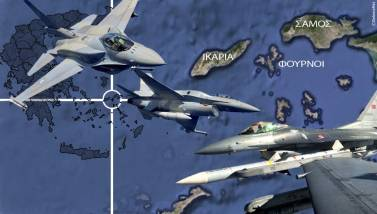 Υπέρπτηση 6 τουρκικών μαχητικών F-16 πάνω από τους Φούρνους