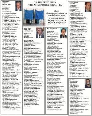 Πέντε υποψήφιοι δήμαρχοι στην Κάλυμνο