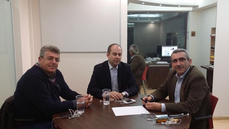 Συνάντηση του Γιώργου Χατζημάρκου με τον Αντιπρόεδρο του ΕΚΑΒ