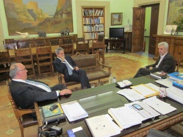 Συνάντηση του Περιφερειάρχη με τον Υφυπουργό Μεταφορών και Δικτύων κ. Μιχάλη Παπαδόπουλο