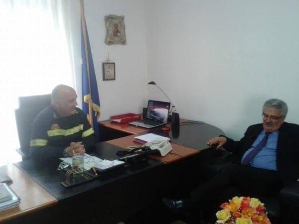 Την  Αστυνομική Διεύθυνση και την Πυροσβεστική Υπηρεσία, επισκέφτηκε ο Γιώργος Υψηλάντης