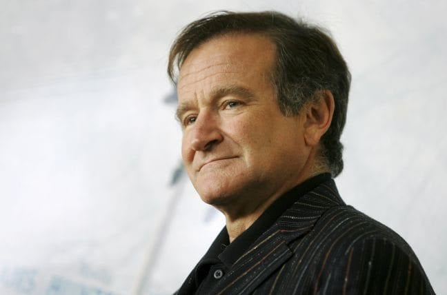 File photo of U.S. actor Robin Williams posing for photographers during a photocall in Rome