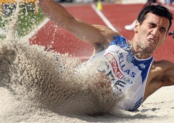 Louis Tsatoumas of Greece competes in th