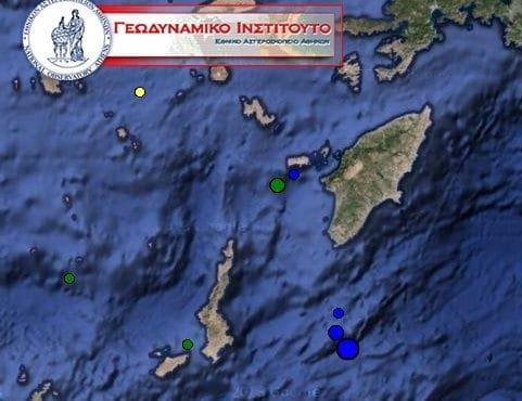 Μεγάλη σεισμική δραστηριότητα παρατηρείται στα Δωδεκάνησα