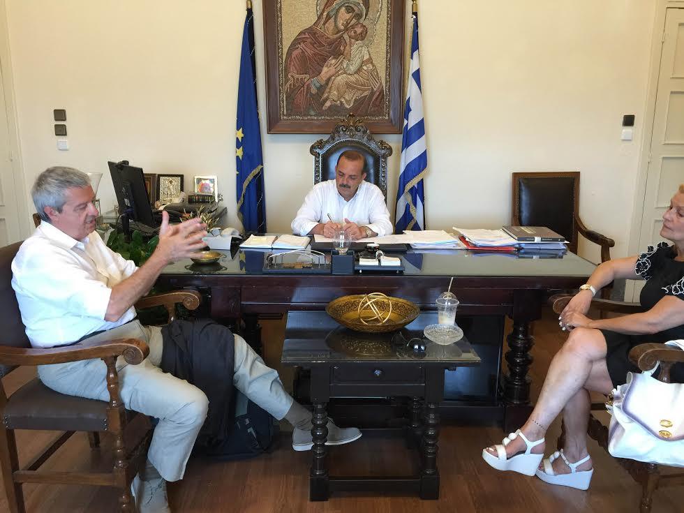 Διαδοχικές συναντήσεις Δημάρχου Ρόδου με προέδρους ECO  CITY  και LIONS