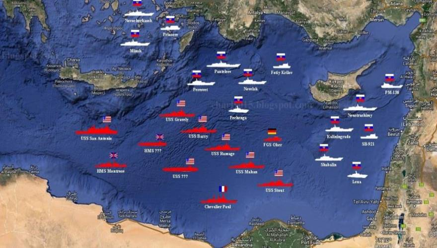 USA_Syria_Russian_Fleets
