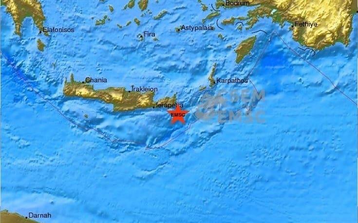 Σεισμός 4,7 Ρίχτερ στην ανατολική Κρήτη