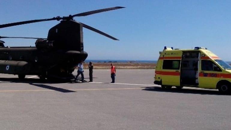 Αεροδιακομιδή 12χρονου απο την Κω στο Ηράκλειο