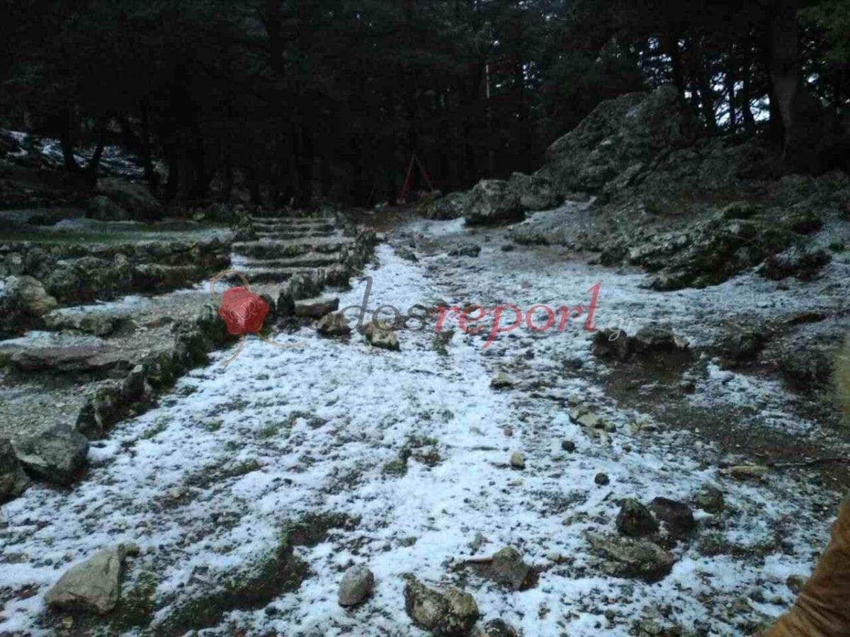 Χιόνια σε Προφήτη Ηλία και Ατάβυρο ! (εικόνες και βίντεο)