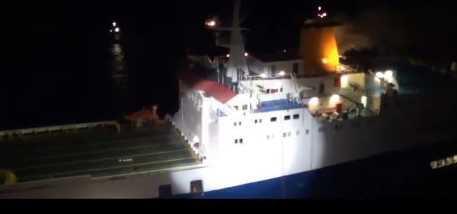 Δείτε βιντεο απο το Super Puma πάνω απο φλεγόμενο πλοίο στα Κρητικά