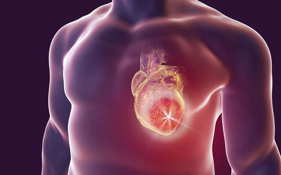 Γηραιότερη έως και 10 χρόνια η καρδιά ενός στους δέκα άνδρες
