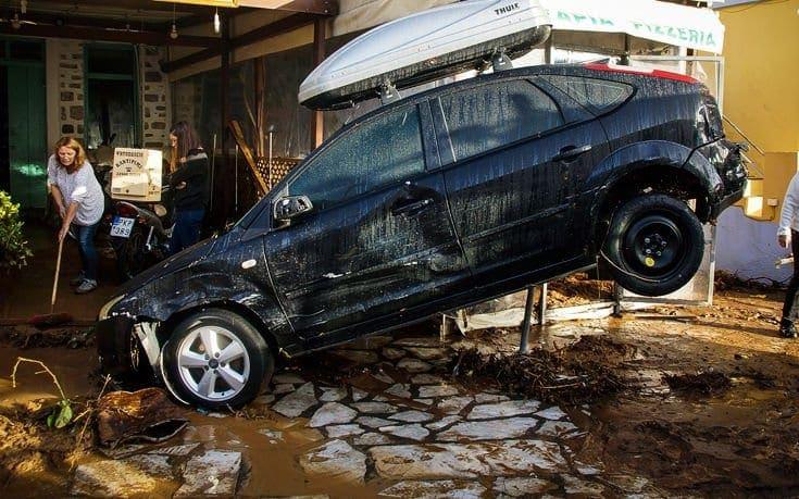 Εικόνες καταστροφής στη Σύμη, σε κατάσταση έκτακτης ανάγκης το νησί