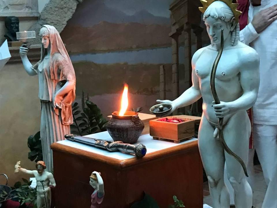 Οι Ρόδιοι Εθνικοί-Τελχινίς εορτάζουν τα «Θεογάμια» στον Οίκο των Ροδίων Εθνικών
