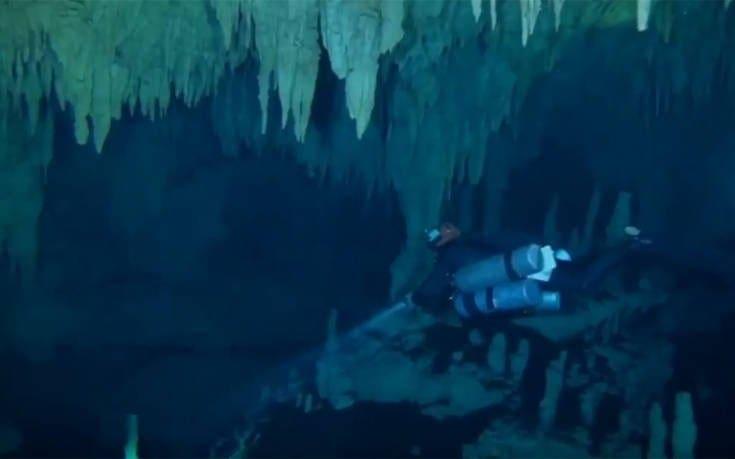 Το μεγαλύτερο υποθαλάσσιο σπήλαιο του κόσμου ανακαλύφθηκε στο Μεξικό