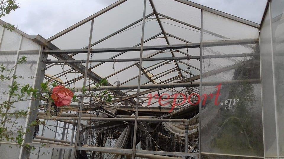 Μεγάλες καταστροφές σε θερμοκήπια στη Ρόδο από τον δυνατό αέρα
