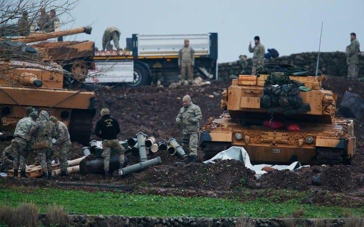 Οι Τούρκοι βάζουν έξτρα σύστημα προστασίας στα άρματα στο Αφρίν