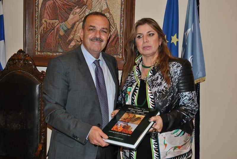 Συνάντηση του Δημάρχου με τον πρώην υπουργό Σήφη Βαλυράκη και τη σύζυγό του εικαστικό Μίνα Παπαθεοδώρου- Βαλυράκη