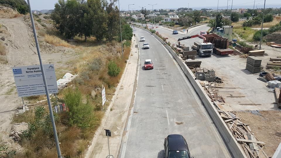 Έτοιμη η νέα γέφυρα Αφάντου – Άνοιξε το ένα ρεύμα στη Ρόδου Λίνδου