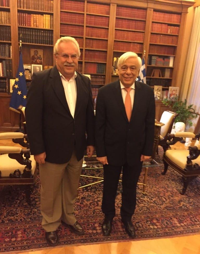 Συνάντηση του βουλευτή Δωδεκανήσου Δημήτρη Γάκη με τον Πρόεδρο της Δημοκρατίας Προκόπιο Παυλόπουλο