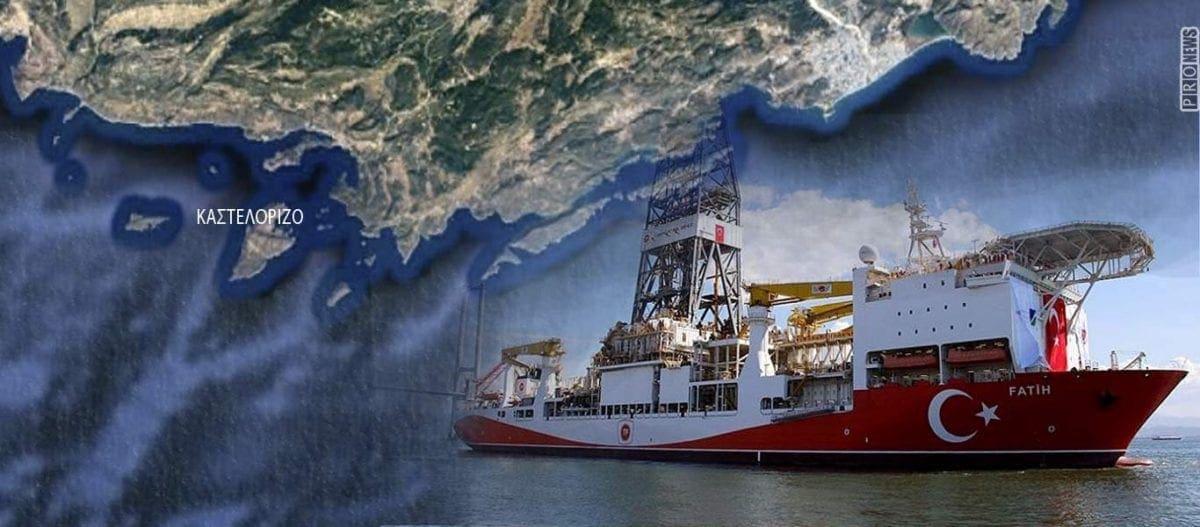 Τουρκική υποθαλάσσια γεώτρηση μόλις 26 ν.μ. από το Καστελόριζο
