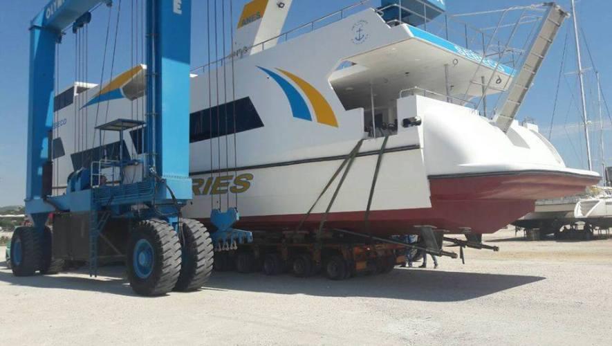 Προσέκρουσε στην προβλήτα το νέο πλοίο της ΑΝΕΣ