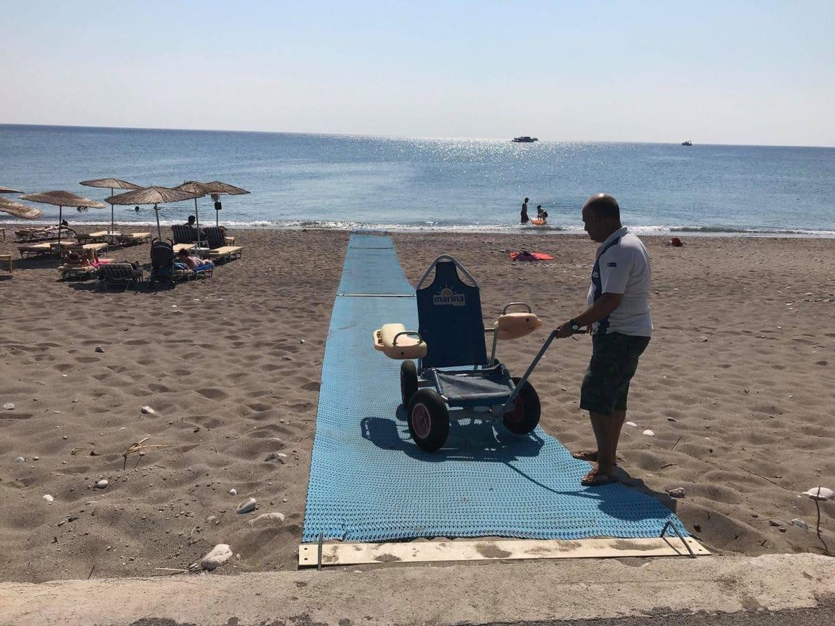 Νέες  σύγχρονες υποδομές για ΑΜΕΑ, σε τέσσερις παραλίες της Ρόδου
