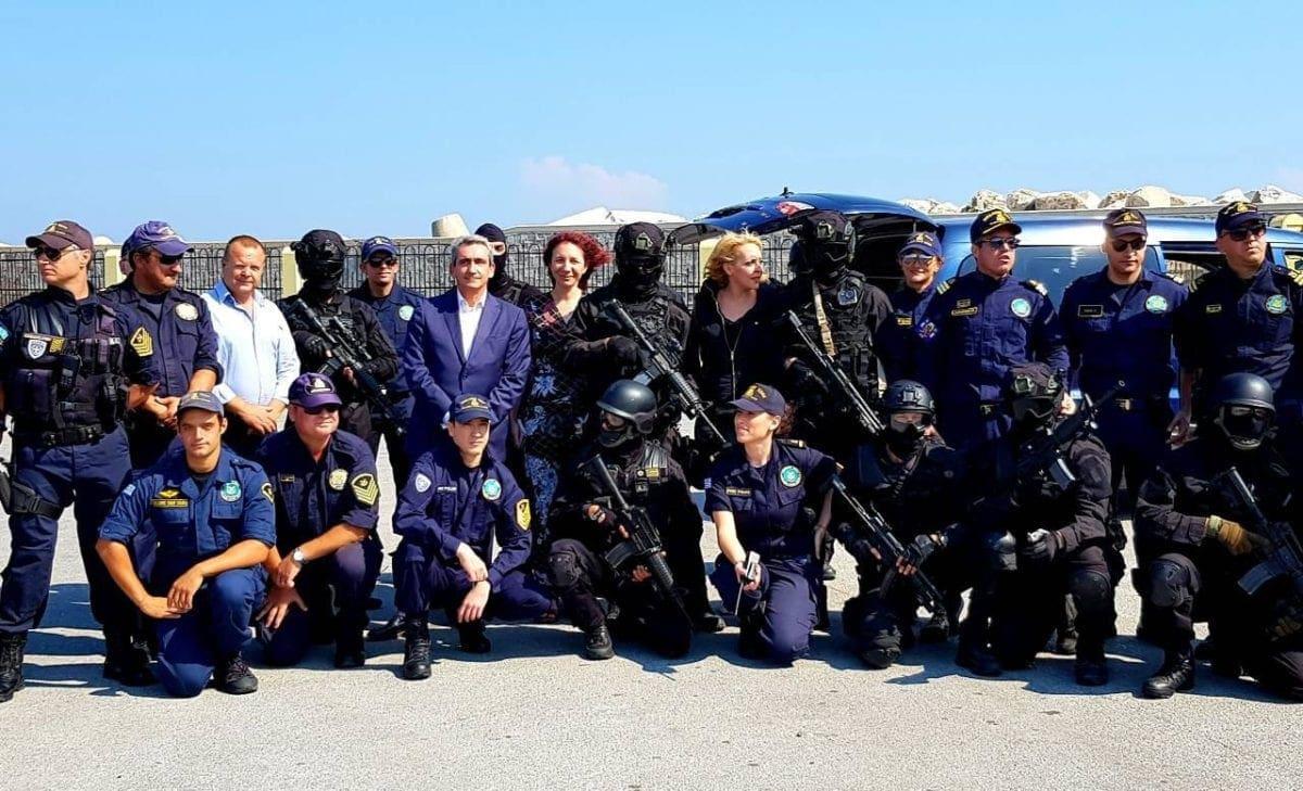 Στην άσκηση για την διαχείριση θυμάτων καταστροφών, στο λιμάνι της Ρόδου ο Γιώργος Χατζημάρκος