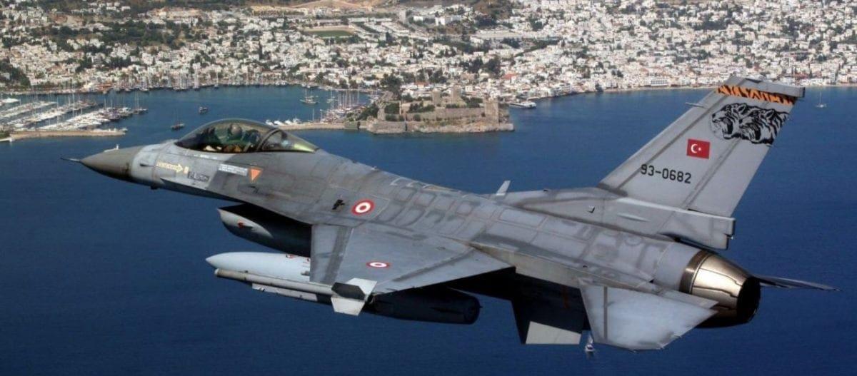 Tουρκικά F-16 έκαναν εικονικό βομβαρδισμό στη νήσο Παναγιά στις Οινούσσες