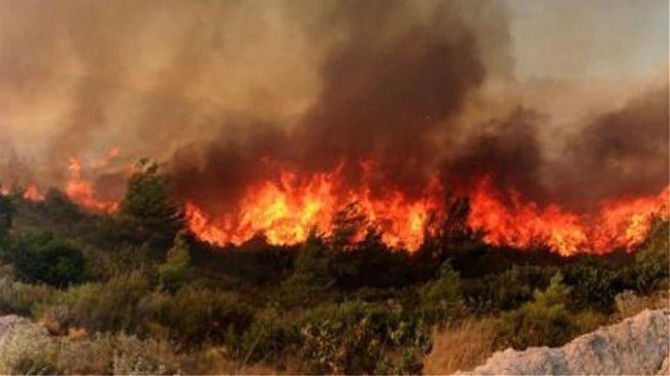 Συμβαίνει τώρα : Φωτιά σε εξέλιξη στην Αρχαία Κάμειρο