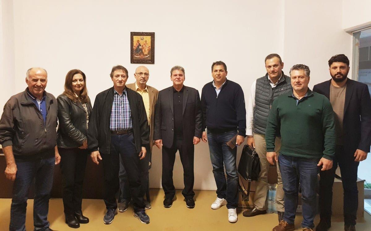 Συνάντηση κ. Μ. Γλυνού με το Δ.Σ. της Ομοσπονδίας  Επαγγελματιών, Βιοτεχνών και Εμπόρων Δωδεκανήσου