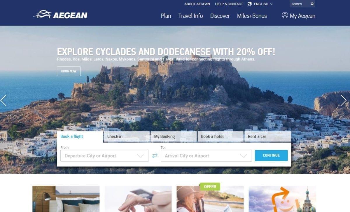 Ολοκληρωμένη καμπάνια προβολής των Κυκλάδων και της Δωδεκανήσου στα προωθητικά κανάλια της AEGEAN