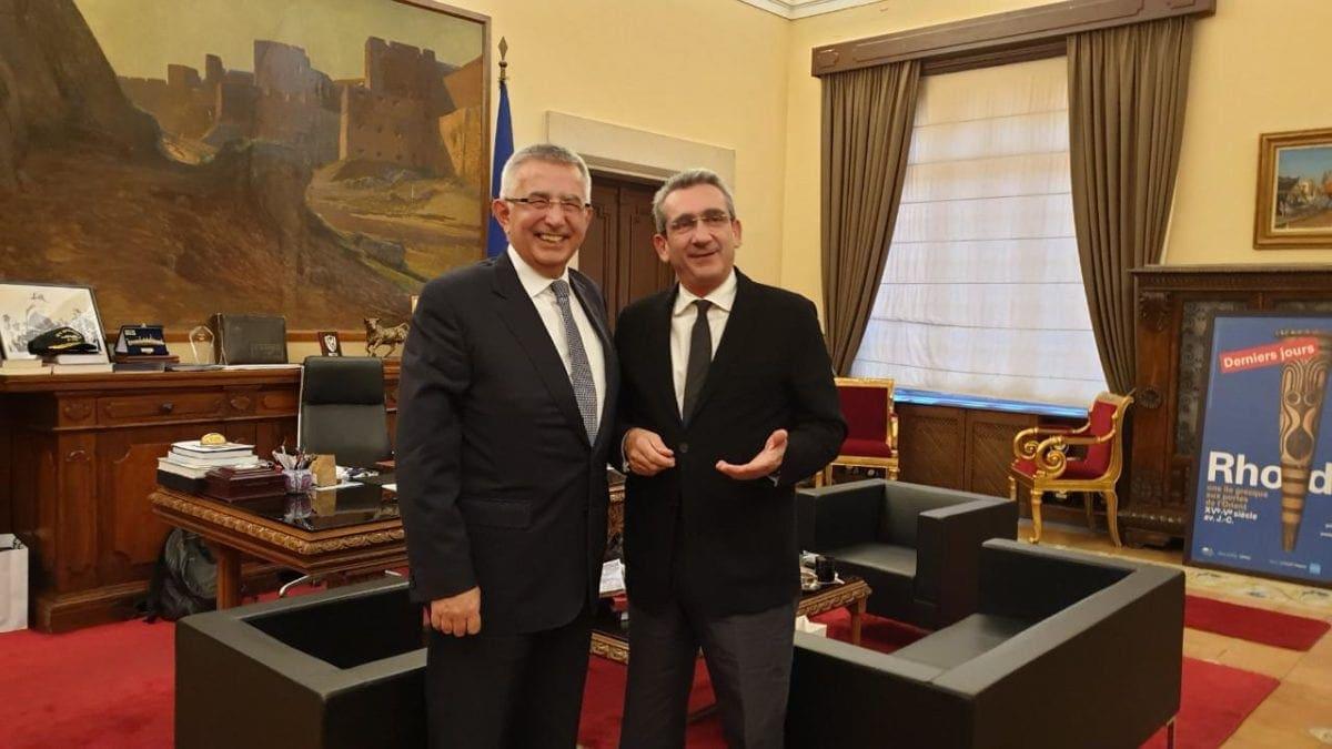 Ευχές για το νέο έτος αντάλλαξαν ο Περιφερειάρχης και ο Γενικός Πρόξενος της Τουρκίας στη Ρόδο