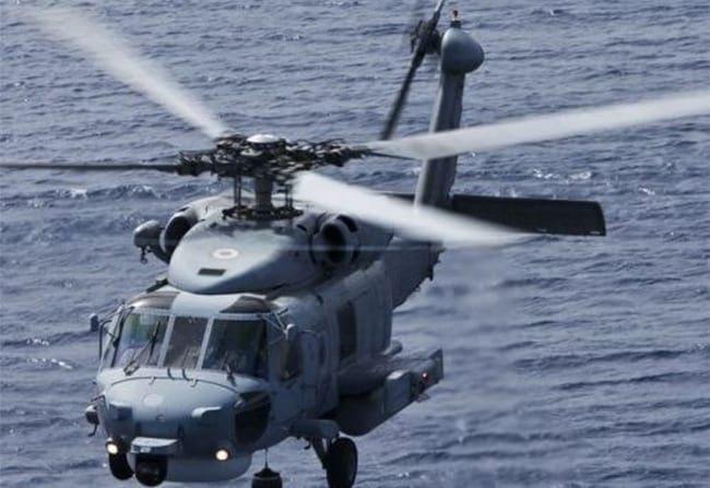 Παραλαβή με ελικόπτερο μέλους πληρώματος Φ/Γ πλοίου στη Ρόδο