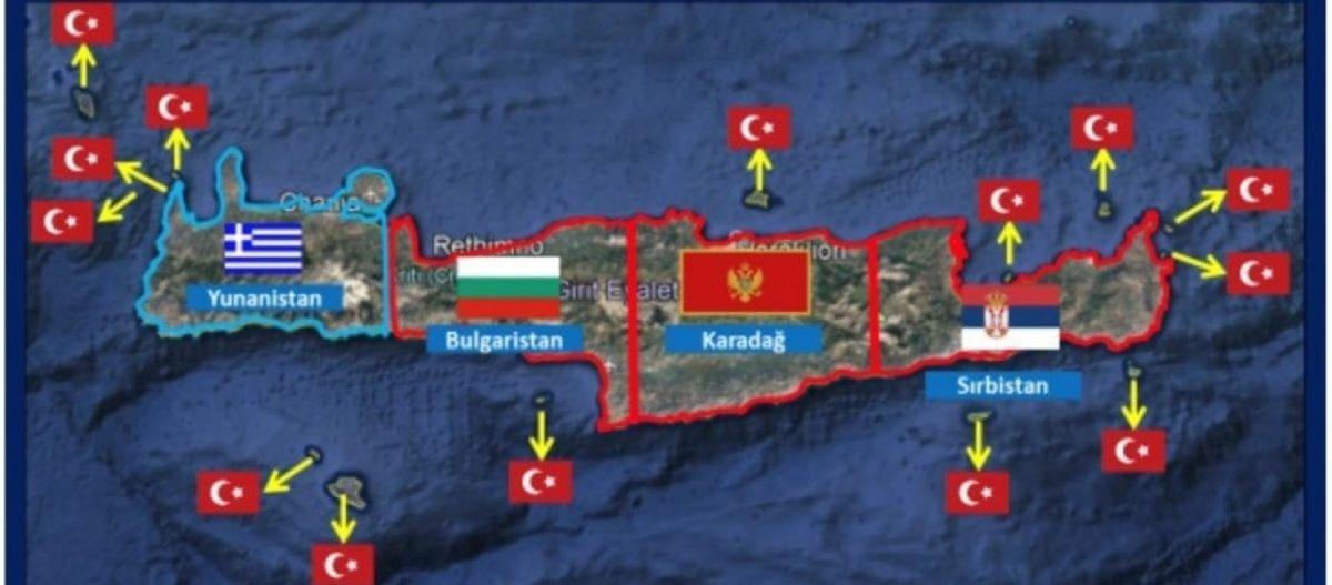 Χάρτες-πρόκληση για τις επιδιώξεις της Τουρκίας – «Η Κρήτη είναι τουρκική, δεν ανήκει στην Ελλάδα»