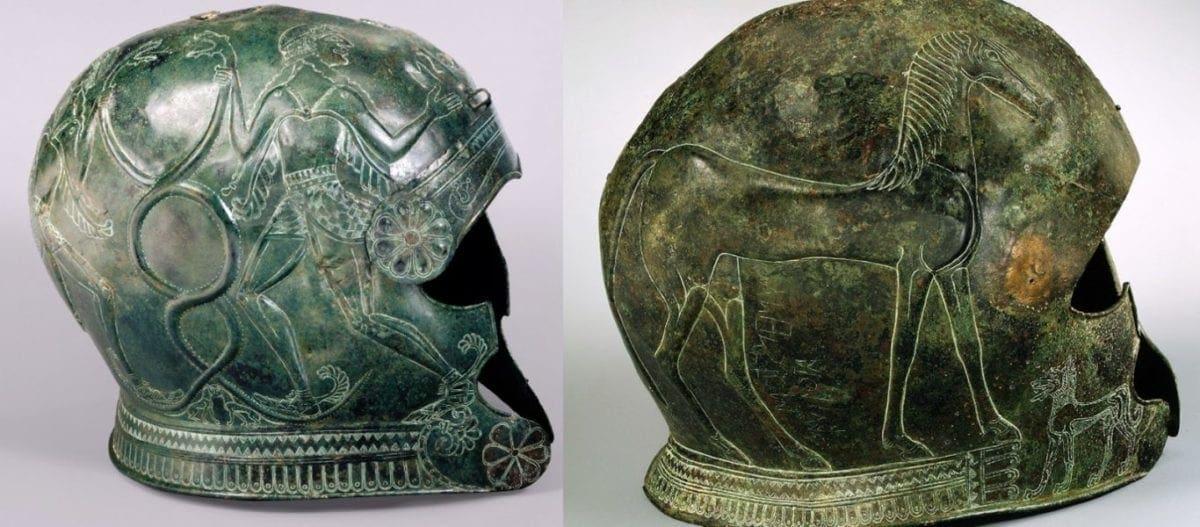 αρχαία ελληνικά κράνη