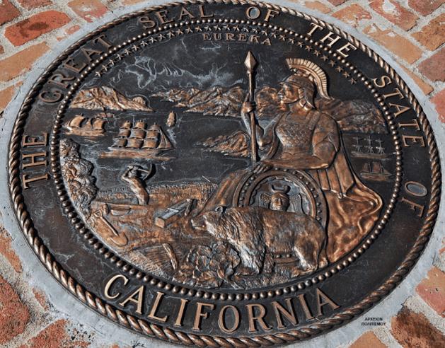H θεά Αθηνά εικονίζεται στην επίσημη σφραγίδα της Καλιφόρνιας!