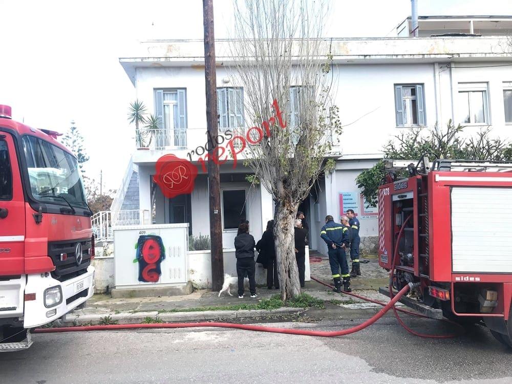 Ρόδος : Φωτιά σε σχολή οδηγών