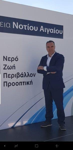 Ο Γιάννης Φλεβάρης, δίπλα στον Γιώργο Χατζημάρκο, για δεύτερη  θητεία στην Περιφέρεια Νοτίου Αιγαίου