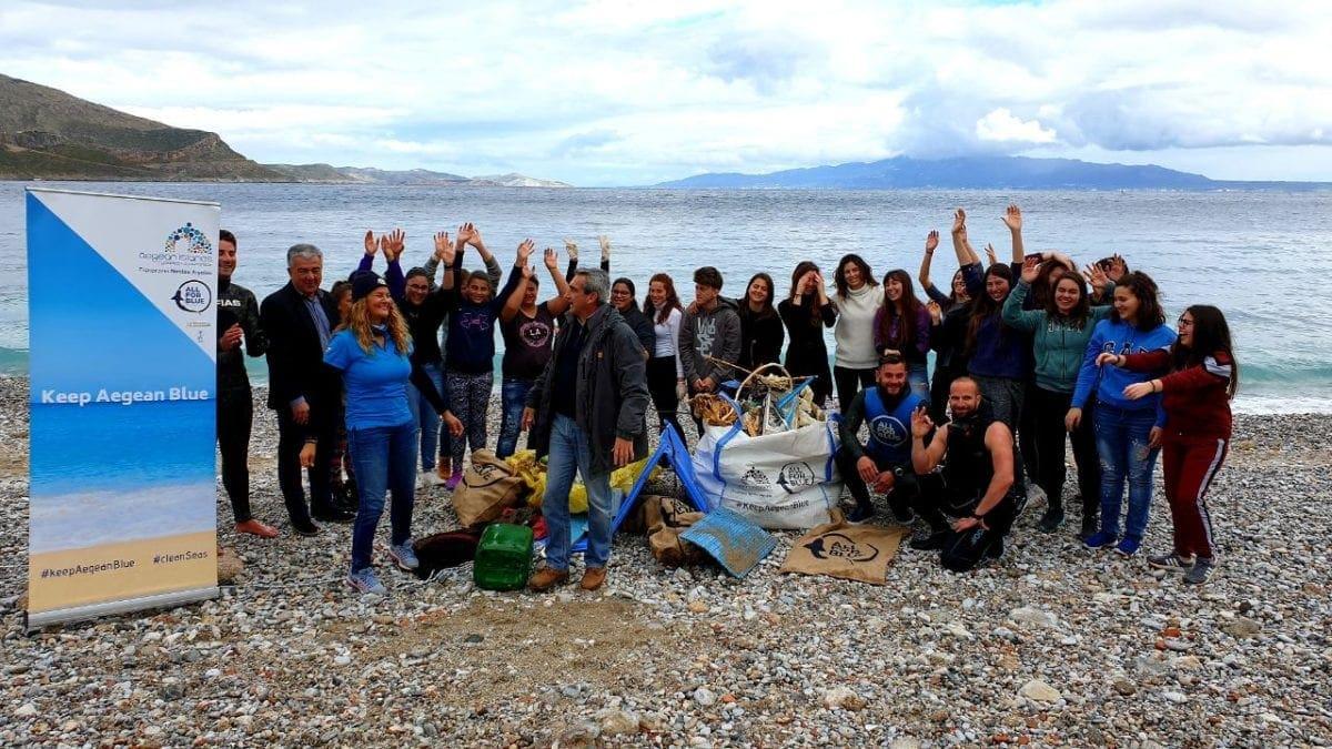 """Στην Κάλυμνο συνέχισε το """"ταξίδι"""" της η περιβαλλοντική δράση της Περιφέρειας Νοτίου Αιγαίου, """"Keep Aegean Blue"""""""