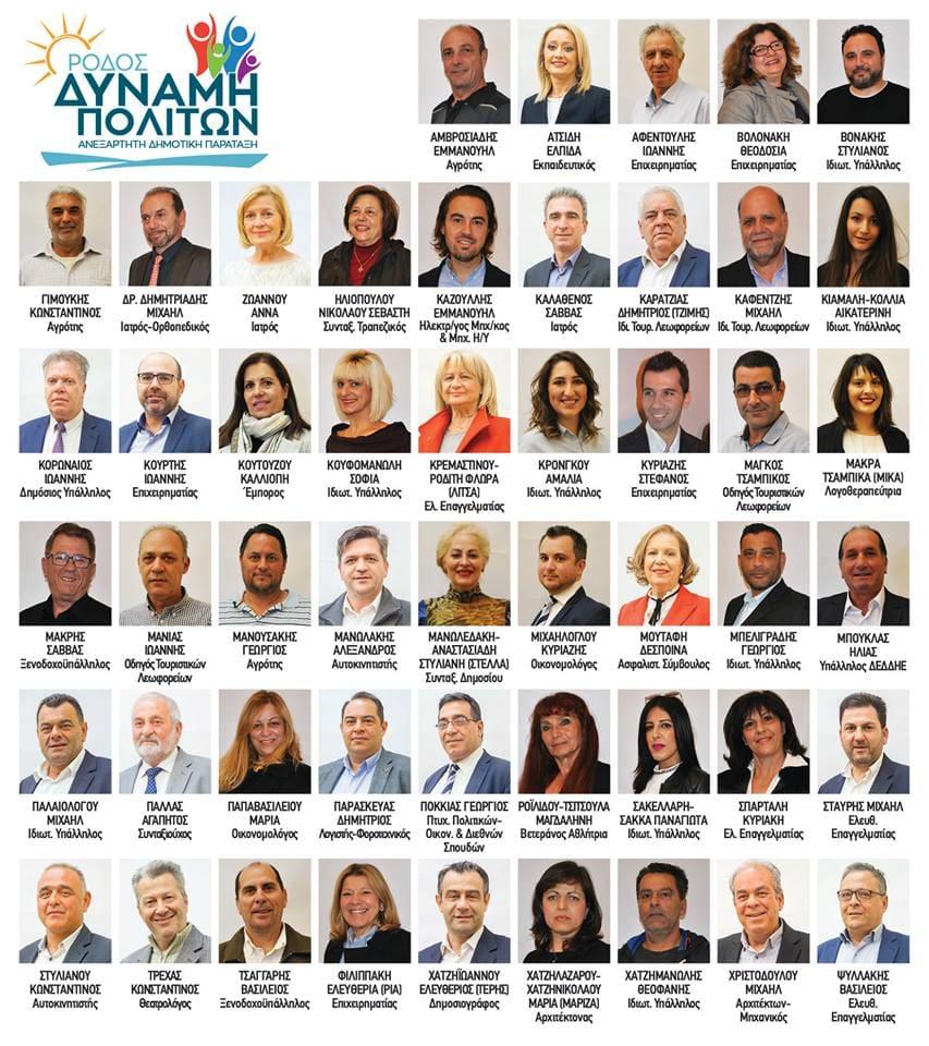 Οι πρώτοι 50 υποψήφιοι του Φώτη Χατζηδιάκου