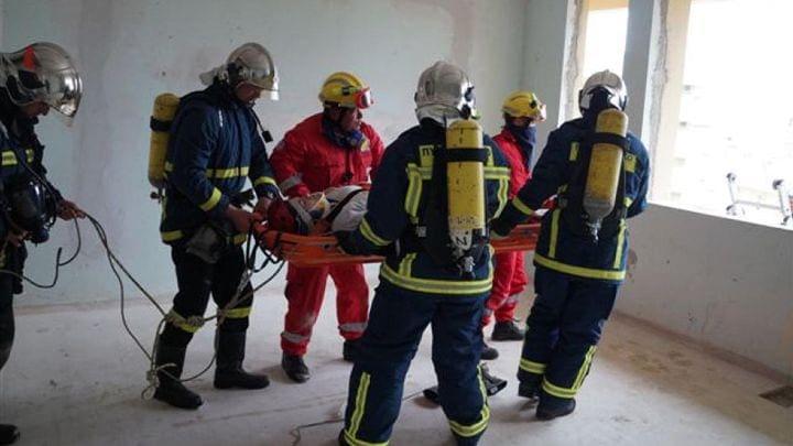 Μεγάλη άσκηση της πυροσβεστικής στην πόλη της Ρόδου