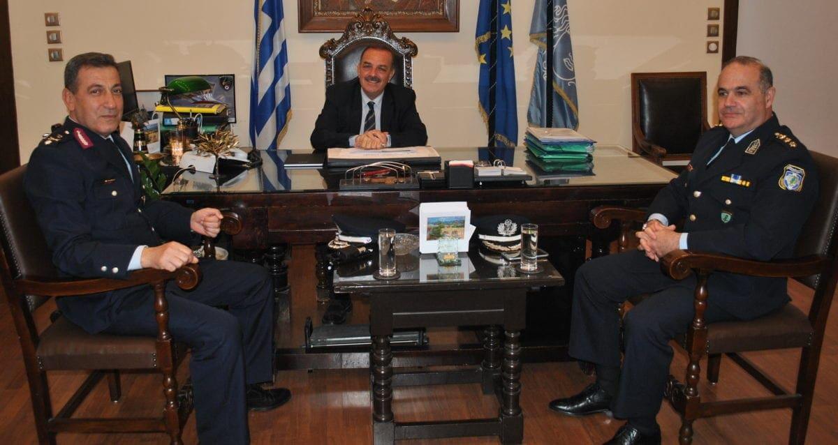 Ο νέος περιφερειακός Αστυνομικός Διευθυντής Νοτίου Αιγαίου στο Δήμαρχο Ρόδου