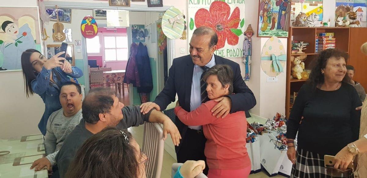 Κοντά στα παιδιά του Κέντρου «Ελπίδα»  βρέθηκε ο Δήμαρχος