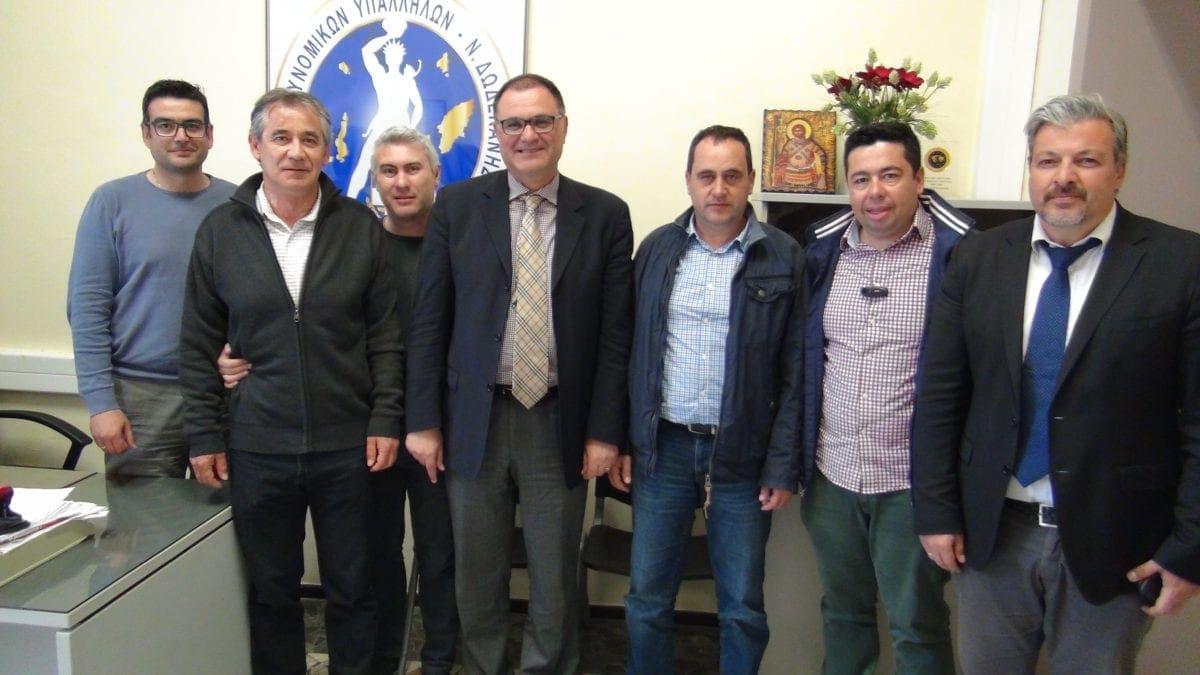 Με την Ένωση Αστυνομικών υπαλλήλων της Α' Αστυνομικής διεύθυνσης  Δωδ/σου συναντήθηκε ο Στράτος Καρίκης