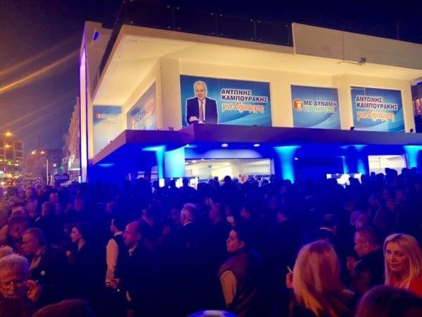"""Λαμπερά εγκαίνια από τον Αντώνη Καμπουράκη στο Εκλογικό Κέντρο του Συνδυασμού """"Με Δύναμη για τη Ρόδο"""""""