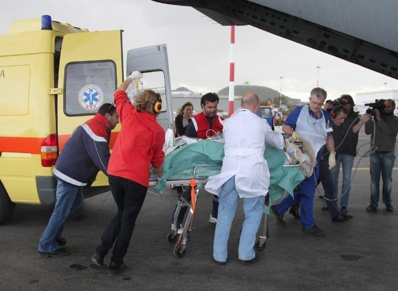 Επτά αεροδιακομιδές ασθενών μέσα σε μια μέρα από την Πολεμική Αεροπορία