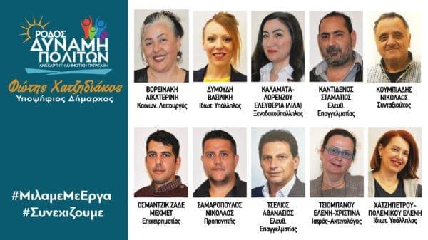Ανακοίνωση 10 νέων υποψηφίων του συνδυασμού του  Φώτη Χατζηδιάκου