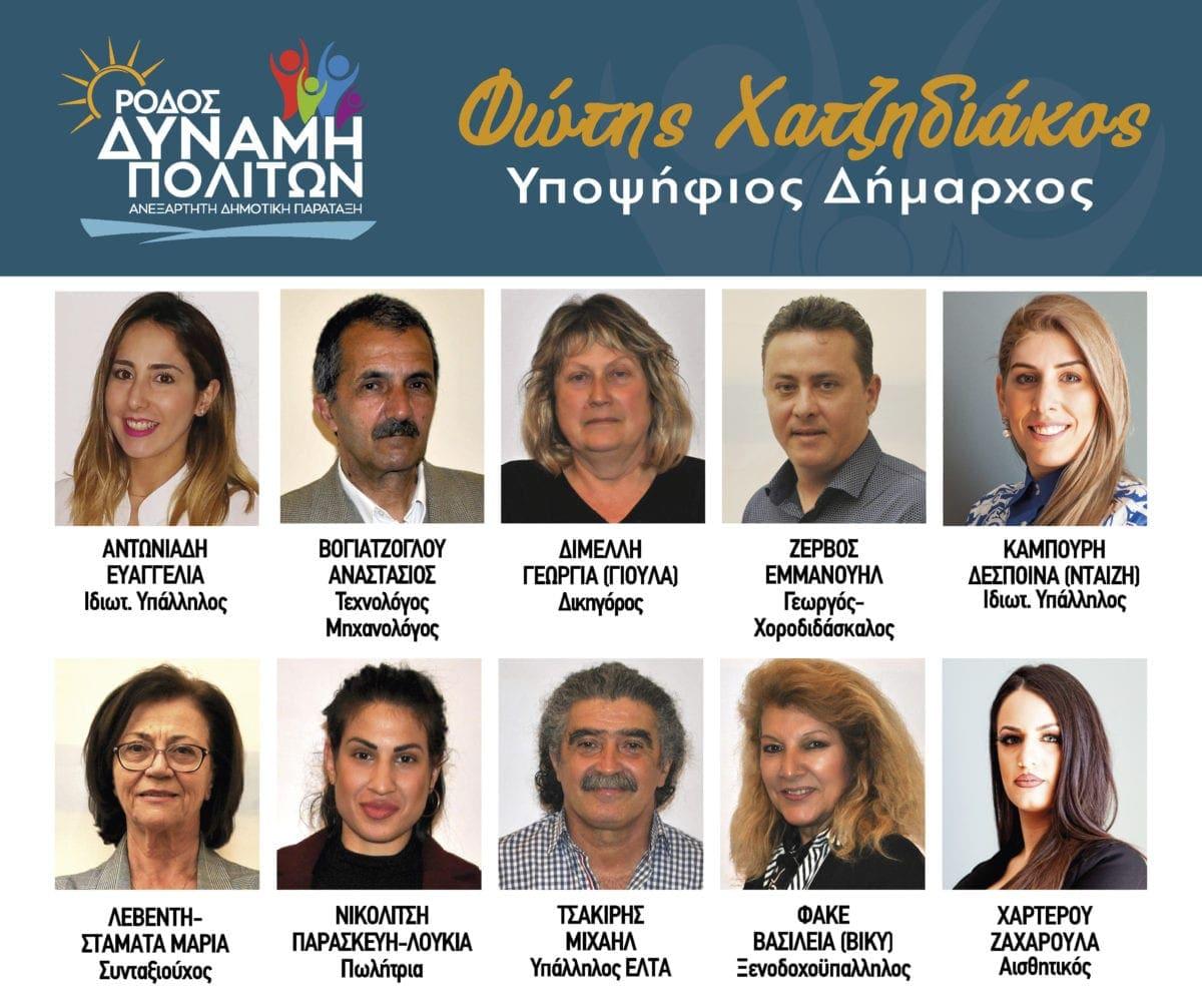 10 νέοι υποψήφιοι με τον Φώτη Χατζηδιάκο