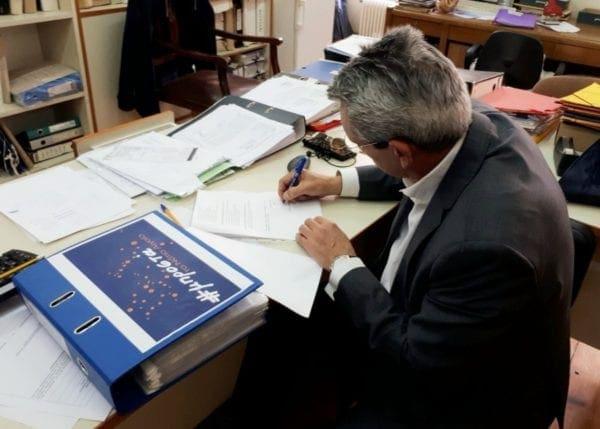 """Στη Σύρο ο Γιώργος Χατζημάρκος για την κατάθεση του συνδυασμού της παράταξης του """"Μπροστά το Νότιο Αιγαίο"""""""