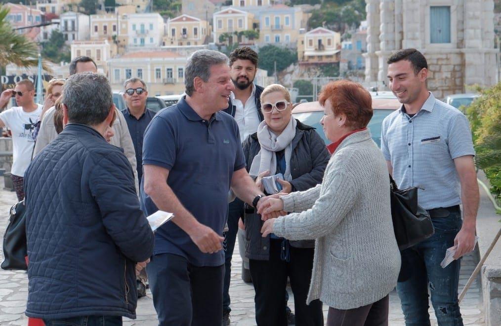Περιοδεία του υποψήφιου περιφερειάρχη Μ. Γλυνού  σε Σύμη, Ασκληπειό, Απολακκιά και Αγιο Ισίδωρο